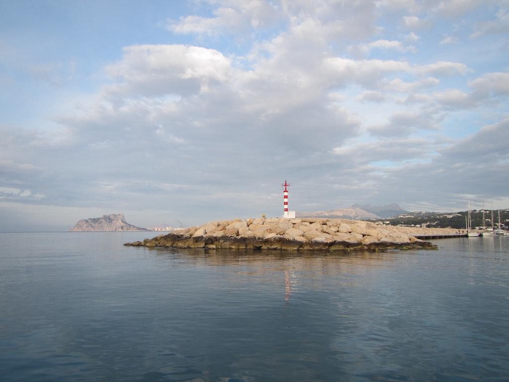Ablegen von der Moraira Marina