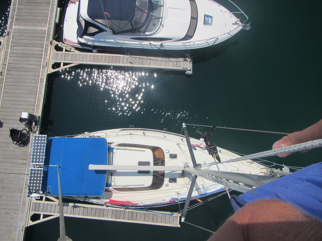 Auf dem Mast