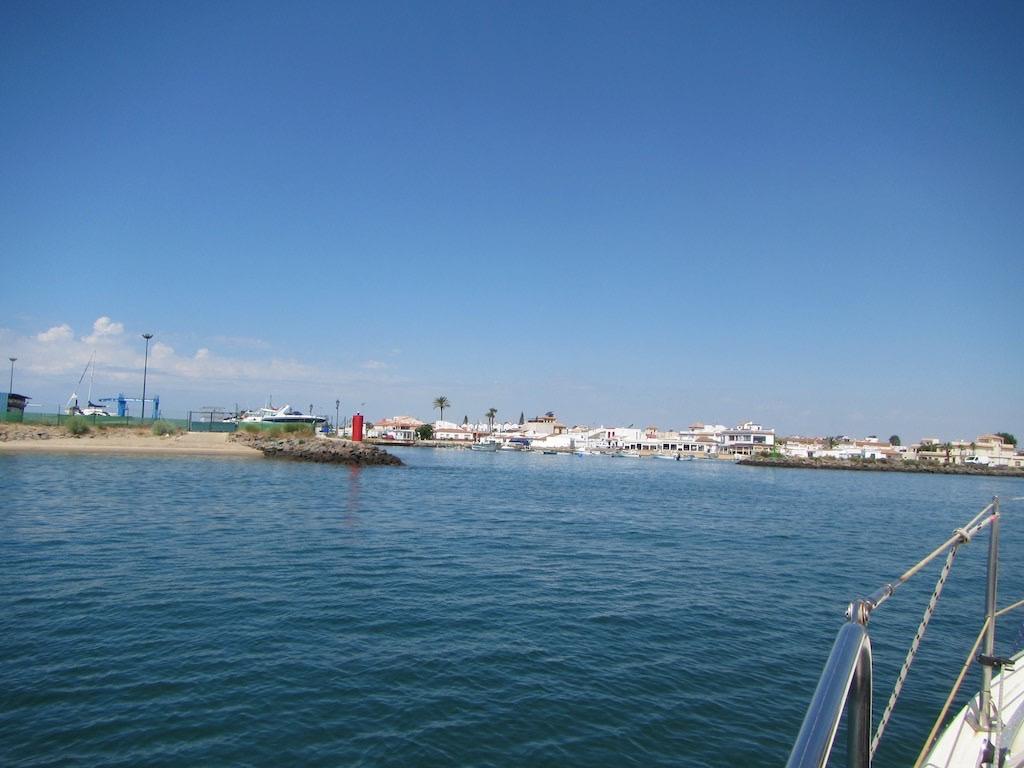 Marina Einfahrt nach Isla Canela