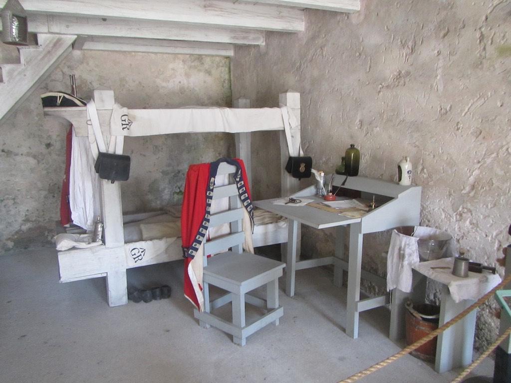 Karge Unterkunft auf der Festung