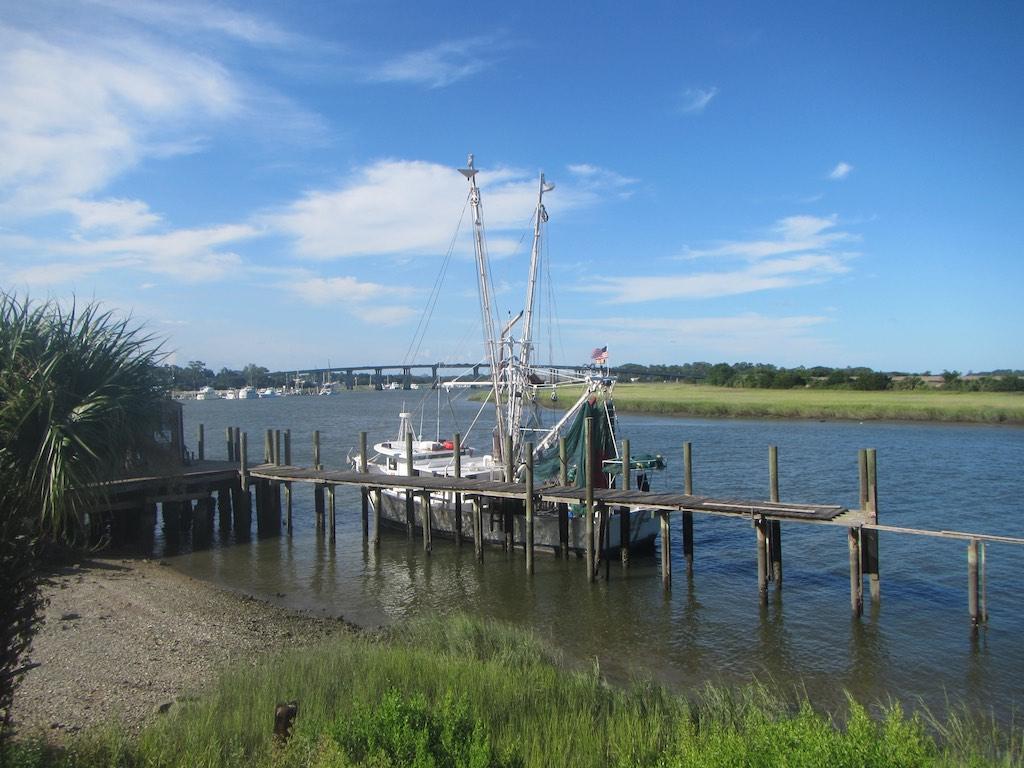 Das schöne Ufer des Wilmington River