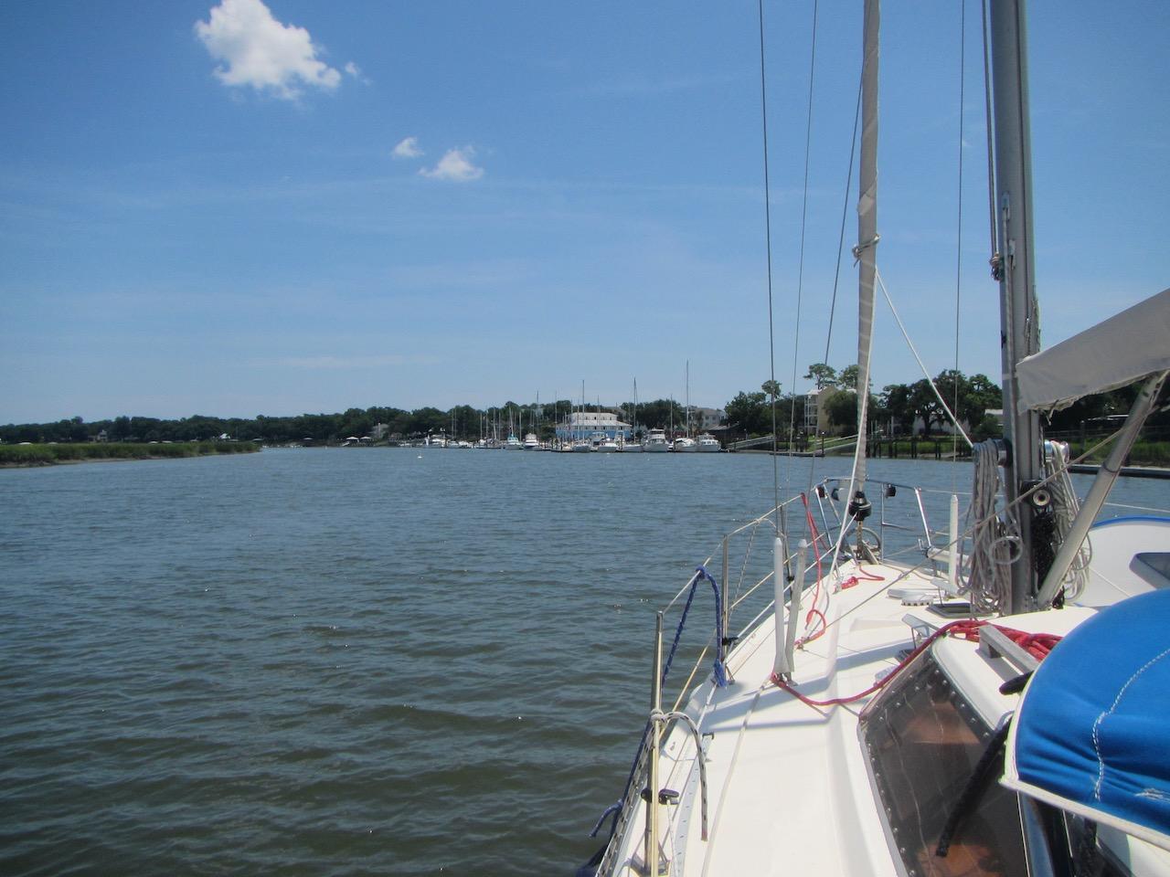 Die Lady's Island Marina kommt in Sicht