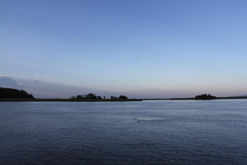 Schöner Ankerplatz im Crescent River